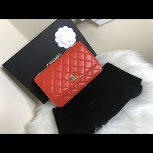 Red Chanel purse